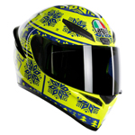 AGV K1 WINTER TEST 2015 Sport Helmet (Fluo Yellow/Blue)