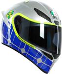 AGV K1 MUGELLO 2015 Sport Helmet (Blue/Silver/Hi-Viz)