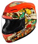 Icon Motosports Airmada DIA DE LOS MUERTOS Full-Face Helmet (Red)
