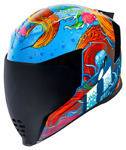 Icon Motosports Airflite INKY Full-Face Helmet (Blue)