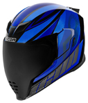 Icon Motosports Airflite QB1 Full-Face Helmet (Blue)