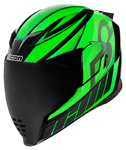 Icon Motosports Airflite QB1 Full-Face Helmet (Green)