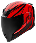 Icon Motosports Airflite QB1 Full-Face Helmet (Red)