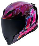 Icon Motosports Airflite SYNTHWAVE Glow-in-the-Dark Full-Face Helmet (Purple)