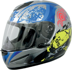 AFX FX95 STUNT Full-Face Motorcycle Helmet (Blue/Silver)