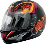 AFX FX95 STUNT Full-Face Motorcycle Helmet (Orange/Black)