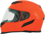 AFX FX120 Solid Full-Face Motorcycle Helmet (Safety Orange)