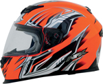 AFX FX120 Graphic Full-Face Motorcycle Helmet (Safety Orange)
