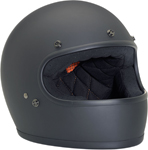BILTWELL GRINGO Retro Full-Face Helmet (Flat Black)