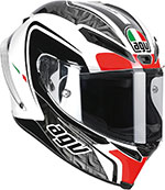 AGV Corsa CIRCUIT Full-Face Helmet (White/Black/Red)