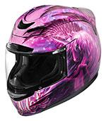ICON Airmada SWEET DREAMS Full-Face Motorcycle Helmet (Black/Pink)