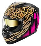 ICON Alliance GT SHAGUAR Full-Face Helmet w/ Sun Visor (Gold/Pink)