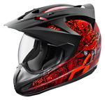 ICON Variant COTTONMOUTH Full-Face Crossover Helmet (Red/Black)