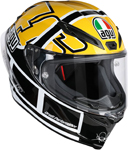 AGV Corsa R Full-Face Motorcycle Helmet (Rossi Goodwood Gloss Black/Yellow/White)