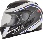 AFX FX105 THUNDER CHIEF Full-Face Motorcycle Helmet (Blue/Grey/White)