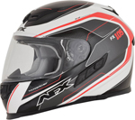 AFX FX105 THUNDER CHIEF Full-Face Motorcycle Helmet (Red/Grey/White)