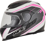 AFX FX105 THUNDER CHIEF Full-Face Motorcycle Helmet (Fuchsia/Grey/White)