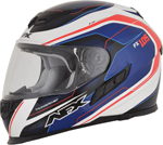 AFX FX105 THUNDER CHIEF Full-Face Motorcycle Helmet (Red/Blue/White)
