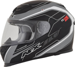 AFX FX105 THUNDER CHIEF Full-Face Motorcycle Helmet (Flat White/Grey/Black)