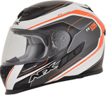 AFX FX105 THUNDER CHIEF Full-Face Motorcycle Helmet (Orange/Grey/White)