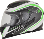 AFX FX105 THUNDER CHIEF Full-Face Motorcycle Helmet (Green/Grey/White)
