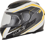 AFX FX105 THUNDER CHIEF Full-Face Motorcycle Helmet (Yellow/Grey/White)
