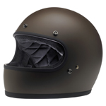 BILTWELL INC GRINGO Retro Full-Face Motorcycle Helmet (Flat Chocolate)