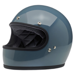 BILTWELL INC GRINGO Retro Full-Face Motorcycle Helmet (Gloss Baja Blue)