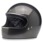 BILTWELL INC GRINGO Retro Full-Face Motorcycle Helmet (Charcoal Metallic)