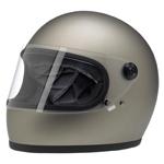 BILTWELL INC GRINGO S Retro Full-Face Motorcycle Helmet (Flat Titanium)