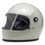 BILTWELL INC GRINGO S Retro Full-Face Motorcycle Helmet (Gloss Polar Green)