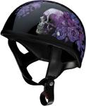 Z1R Nightshade CC Beanie Half Helmet (Black/Purple)