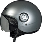 AFX FX-42 PILOT Open-Face Motorcycle Helmet (Silver)