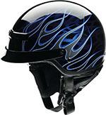 Z1R Nomad HELLFIRE Motorcycle Half Helmet (Black/Blue)