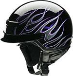 Z1R Nomad HELLFIRE Motorcycle Half Helmet (Black/Purple)