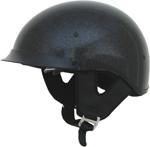 AFX FX200 Motorcycle Half Helmet w/ Sun Visor (Black Metal Flake)