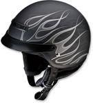 Z1R Nomad Hellfire Motorcycle Half-Helmet (Matte Black/Grey)