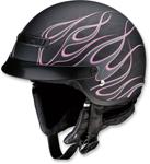 Z1R Nomad Hellfire Motorcycle Half-Helmet (Matte Black/Pink)