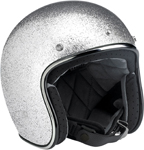 Biltwell Inc Bonanza Retro Open-Face Helmet (Silver)