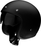 Z1R SATURN SV Open-Face Helmet w/ Dropdown Sun Visor (Flat Black)