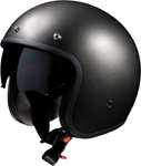 Z1R SATURN SV Open-Face Helmet w/ Dropdown Sun Visor (Titanium Gray)