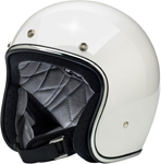 Biltwell Inc Bonanza Retro Open-Face Helmet (Gloss White)