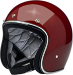 Biltwell Inc Bonanza Retro Open-Face Helmet (Gloss Garnet Red)