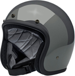 Biltwell Inc Bonanza Retro Open-Face Helmet (Gloss Storm Grey)