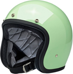 Biltwell Inc Bonanza Retro Open-Face Helmet (Gloss Mint Green)