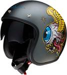 Z1R Saturn SV Retina Open-Face Helmet (Dark Silver)