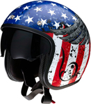 Z1R Saturn SV Justice Open-Face Helmet (Red/White/Blue)
