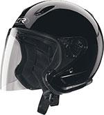 Z1R Ace TRANSIT Open Face Motorcycle Helmet (Black)