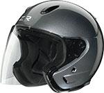 Z1R Ace Open Face Motorcycle Helmet (Dark Silver)