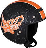 Z1R Jimmy CHICO Open Face Motorcycle Helmet (Black/Orange)